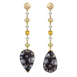 EARRING_1OAK-Black-Rutilated-Quartz-White-Fancy-Yellow-Diamond-Oculus-Mismatched-Elongated-Earrings-4.45-tcw-copy