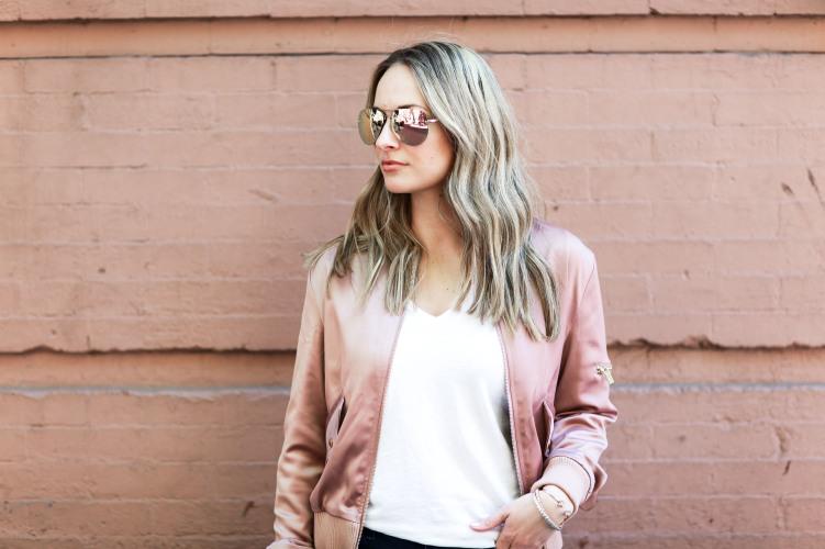 750 px rose gold sunglasses